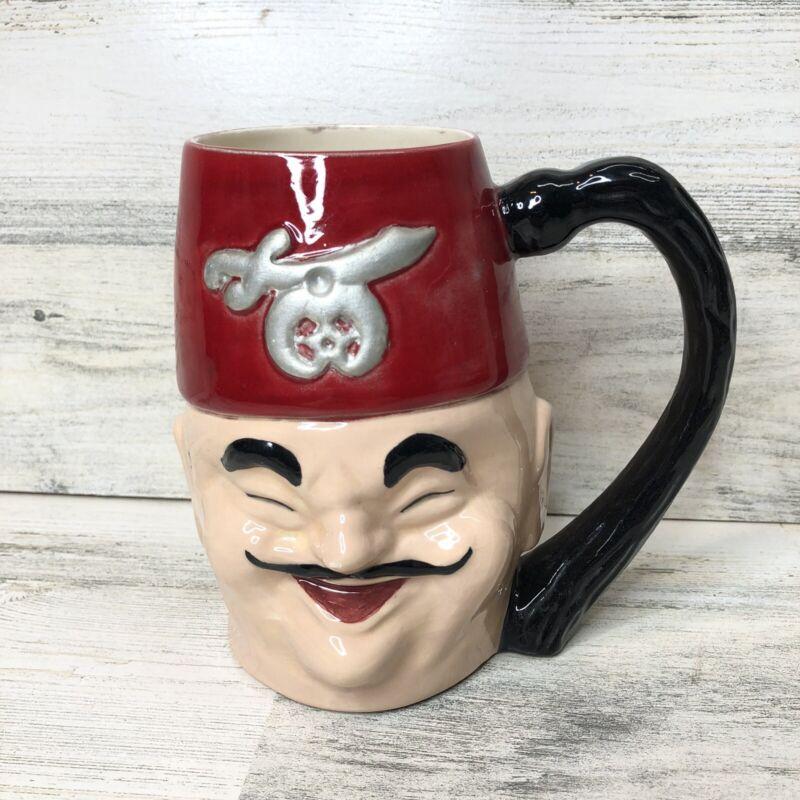 Vintage Shriner Shriners Mug Cup Red Hat