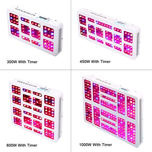 MAXSISUN Timer Control 300W 450W 600W LED Grow Light Full Sp