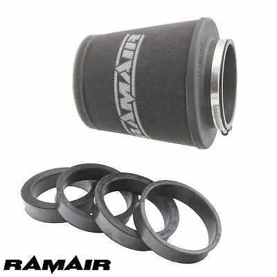 RAMAIR 90mm NECK UNIVERSAL CONE INDUCTION FOAM AIR FILTER WITH REDUCING RINGS