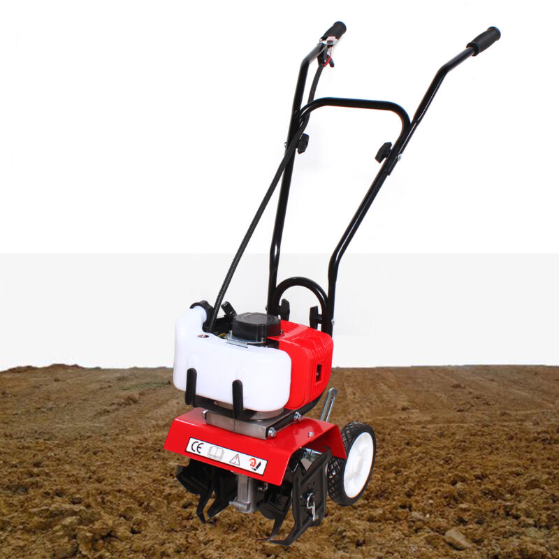 52CC 2HP Gas Power Tiller Soil Cultivator Tilling Tool Yard Garden Farm Tiller