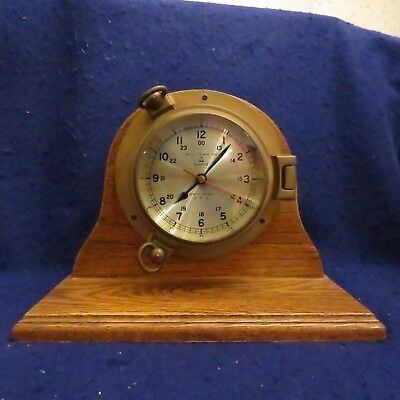 Bell Clock Co. Nautical Porthole Quartz Ships Mantle Clock EXC WORKING COND! Quartz Ships Bell Clock