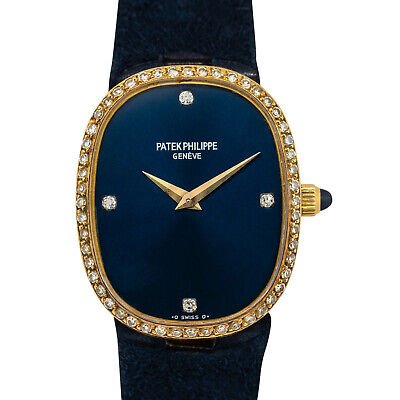Patek Philippe Golden Ellipse 18k Yellow Gold Diamond Watch