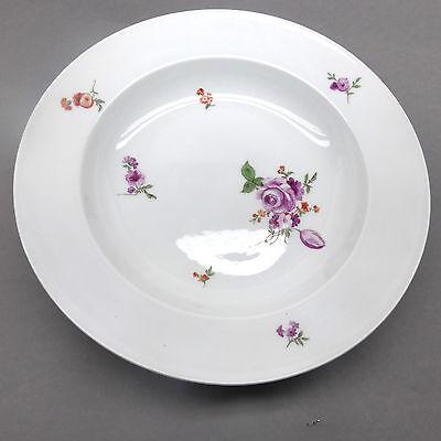 ❂ ►  Meissen Teller, Schale, 19.Jhd. Blumen- Decor,Ø  26,5 cm