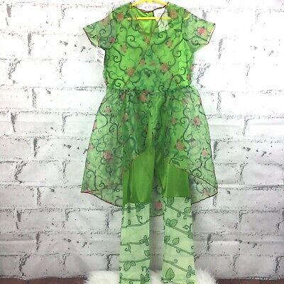 DC Comics Girl's Poison Ivy Dress & Leggings Costume Cosplay Size Medium *READ*