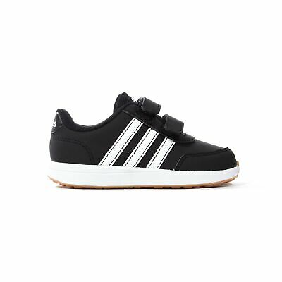 adidas VS Switch 2 Infant Kids Strap Sports Trainer Shoe Black/White