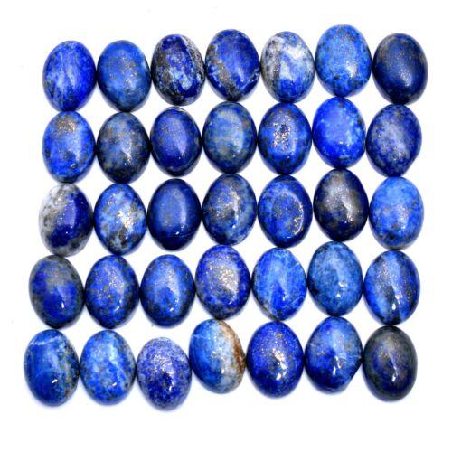 35 Pcs Natural Lapis Lazuli Untreated Gold Pyrite Cab Wholesale Gems~ 16mmx12mm