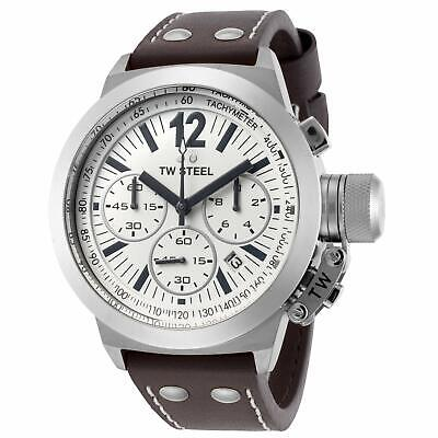 NEW TW Steel Men's CEO Canteen Chronograph Leather Band Watch - CE1007