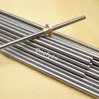 8mm Acme Threaded Rod Trapezoidal Lead Screwt8 Nut For Cnc 3d Printer Reprap