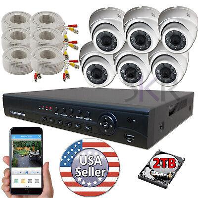 Sikker 8 channel Full 1080P DVR 6 pcs 2 Megapixel Security