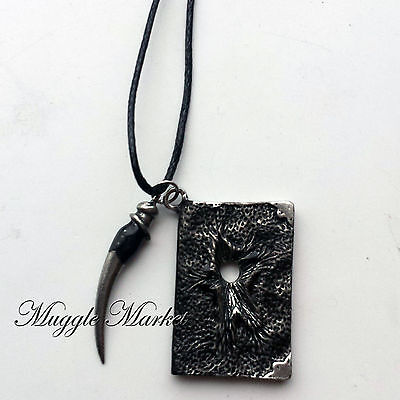 Hogwarts Tom Riddle's diary with basilisk tooth necklace Harry Voldemort wizard