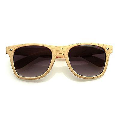 Unique Style Indie Fashion Wood Print Retro Horned Rim (Unique Sunglasses)