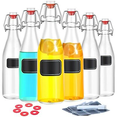 ügelverschluss 1l Bügelflaschen Bügel Falsche Likör 1000ml  (Bügelflaschen)