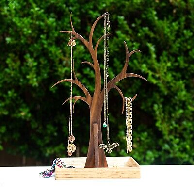 Elegant Tree Jewelry Stand Holds Necklaces Bracelets And More. Handmade.