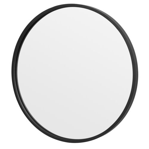 Black Round Mirror 18Inch Circle Wall Mirror with Metal Frame Vanity Entryway Home & Garden