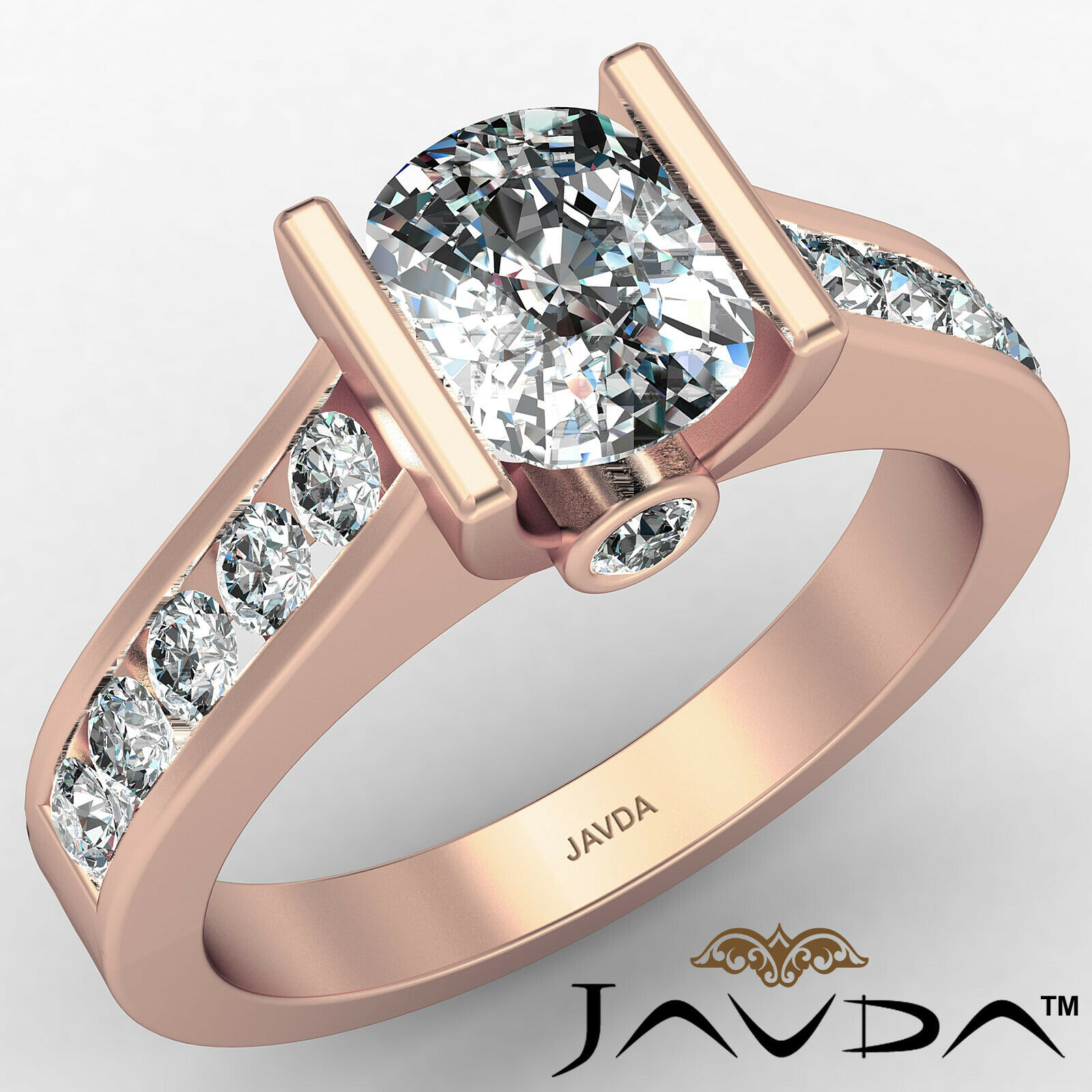 Bezel Cushion Diamond Engagement Women's Ring GIA, J Color SI1 clarity 1.53 ctw. 2