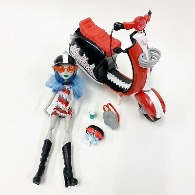 Monster High Ghoulia Yelps & Scooter Toys R Us Exclusive Doll w/ Pet Hoots C9