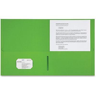 Sparco 2-pocket Portfolio 25bx Apple Green 78552