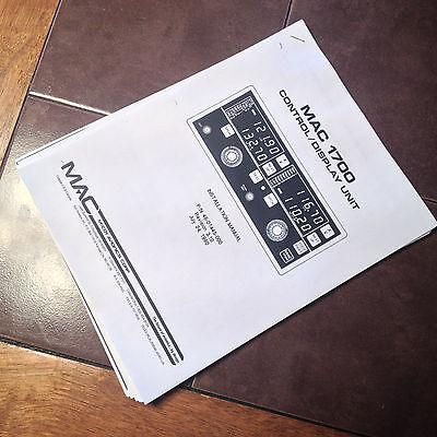 McCoy MAC 1700 install manual