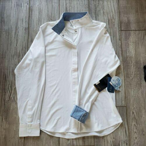 Ovation Jorden Tech Show Shirt - White Size 40