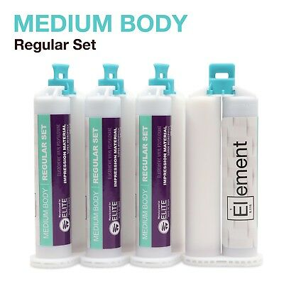 Element Medium Body Vps Pvs Dental Impression Material Regular Set 50ml