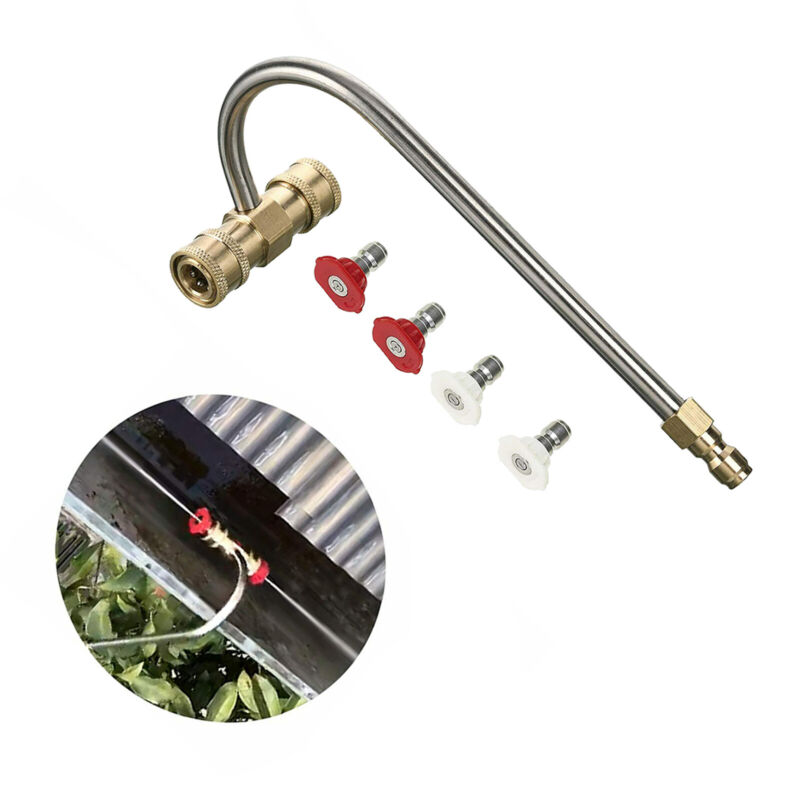 Pressure Washer Wand Extension Spray Nozzles Gutter Cleaner Attachment