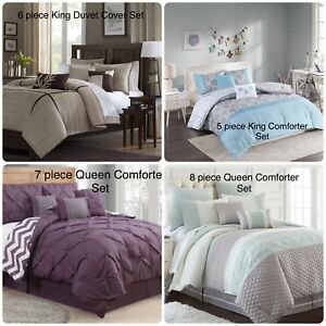 Brand New Comforter/ Duvet/Coverlet Sets in King and Queen