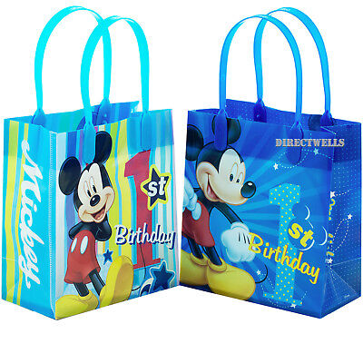 Disney Mickey Mouse 1st Birthday Reusable Small Party Favor Goodie 6 Bags  Mickey Mouse Goody Bags