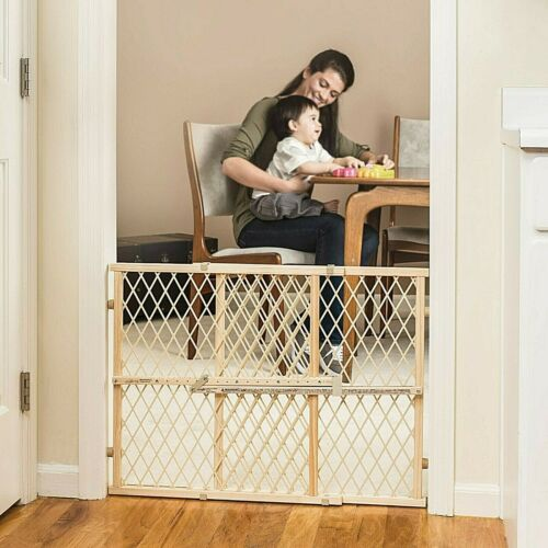 Pressure Mount Gate Door Stair Dog Child Bar Toddler Fence Pet Gate Walk Baby