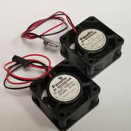 Qty 2 / Panaflo FBK04F24H Fan Tubeaxial 24VDC Square - 40mm  x 20mm  6.7 CFM