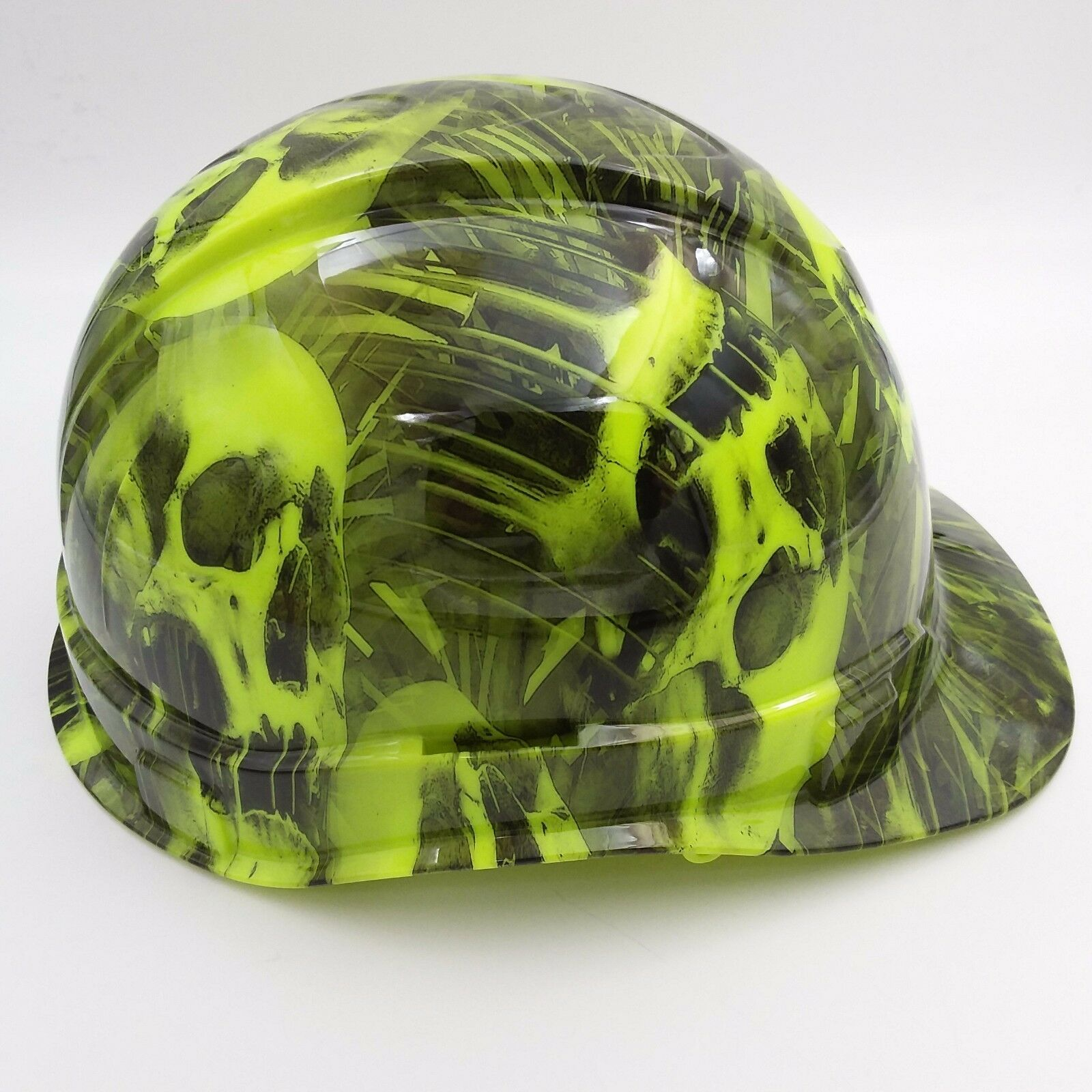 Hard Hat CAP STYLE custom hydro dipped , OSHA approved MELTING SKULLS NEW 2