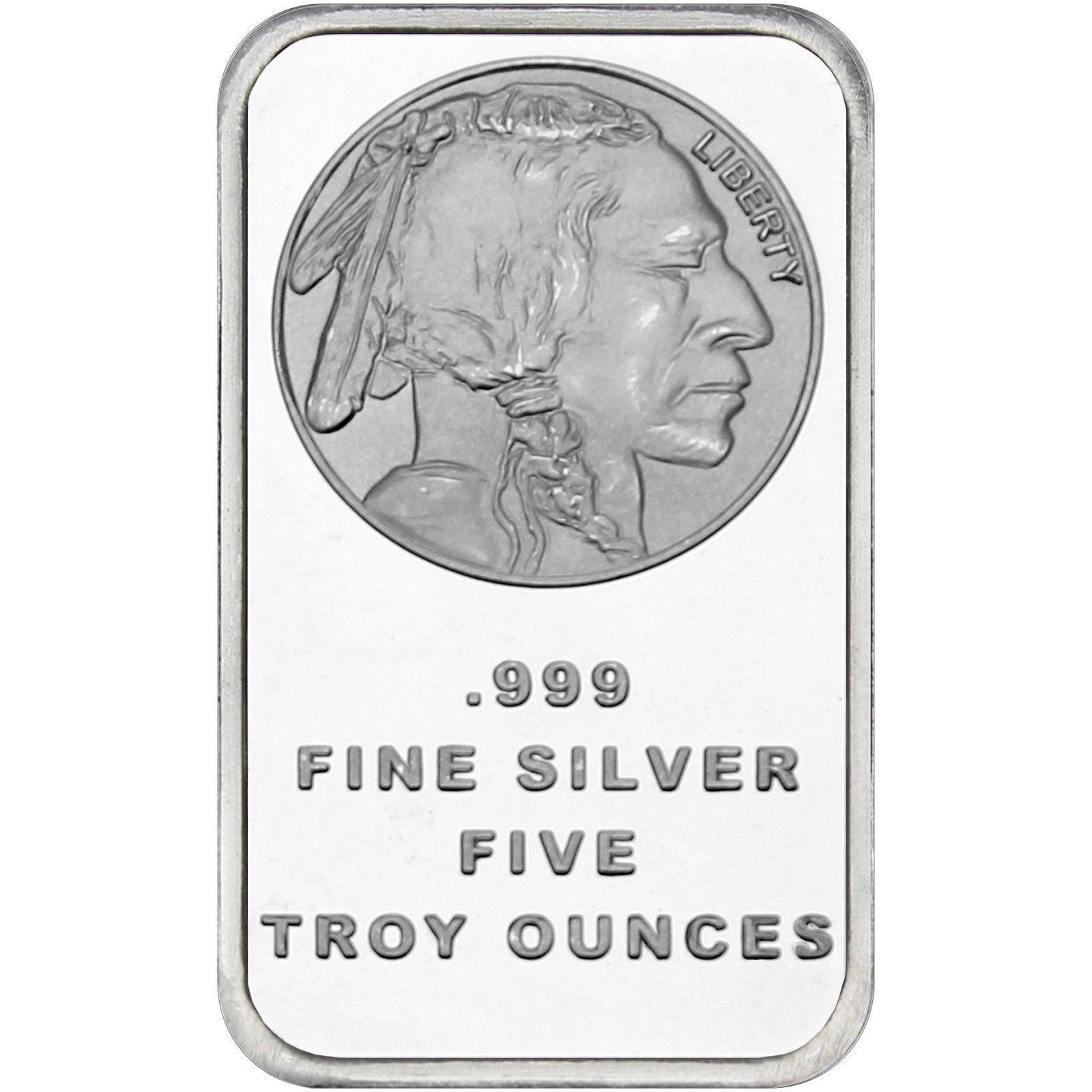 American Buffalo 5oz .999 Fine Silver Bar