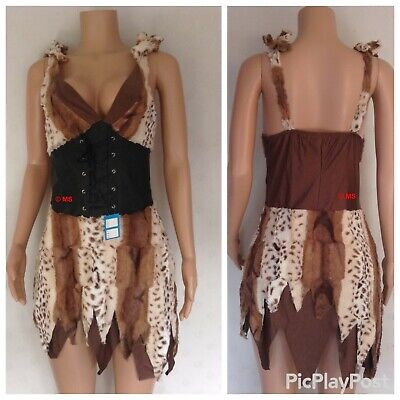CAVE GIRL OUTFIT HALLOWEEN COSTUME PREHISTORIC WOMAN FLINTSTONE CAVE WOMAN - Halloween Cavewoman Kostüm