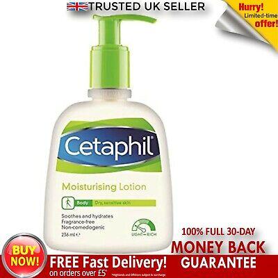 Cetaphil Moisturising Lotion 236 ml Skin Dry Sensitive Fragrance & Lanolin Free
