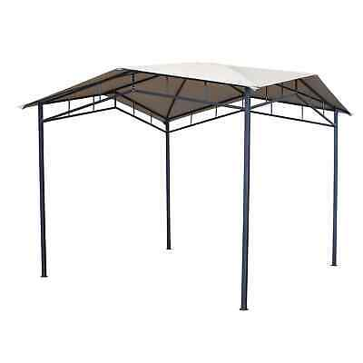 Ives Metal Gazebo 3x3m Marquee Canopy Shelter for Sun Shade in Garden/Patio
