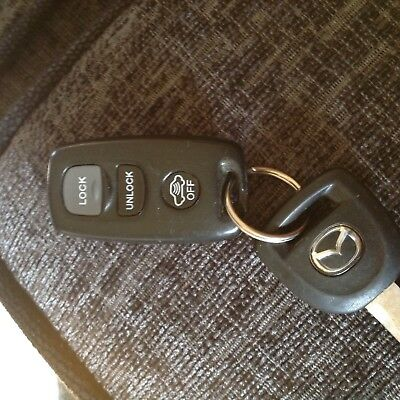 MAZDA  3 BUTTON REMOTE ALARM CAR KEY FOB  VISTEON 41836  rx8 2-3-6 323 -626