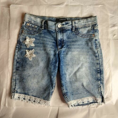 Jordache Acid Washed Bermuda Shorts Size 16