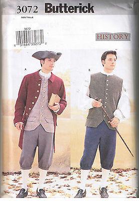 Herren Colonial Revolutionary Weste Hemd Hose Kostüm Nähen - Herren Kostüm Nähen Muster