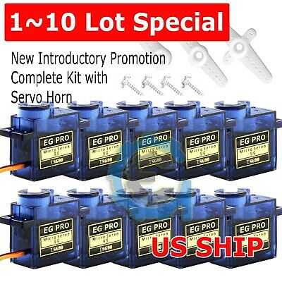 1~10Lot 9G iSG90 Micro Servo Motor RC Robot Helicopter Airplane Aircraf Car Boat