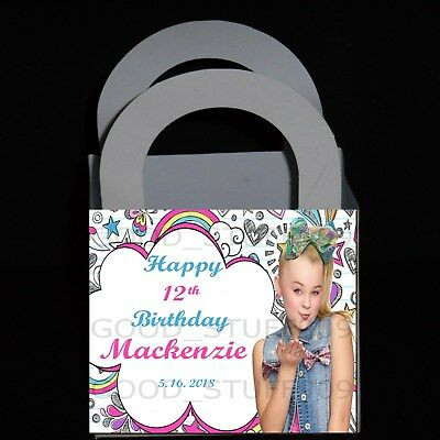 JOJO SIWA 12 PERSONALIZED BIRTHDAY PARTY FAVORS  BOXES 3 X 3 X 2.5 INCHES - Boxing Party Favors
