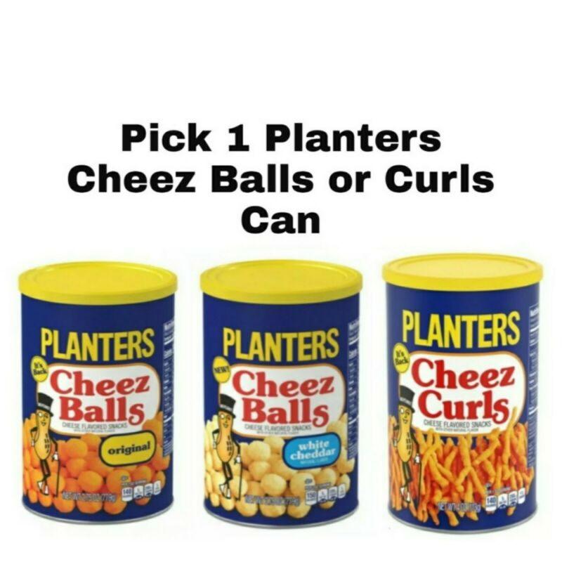Planters Cheez Balls or Curls Pick 1 Can Cheese Snacks Choose any Flavor