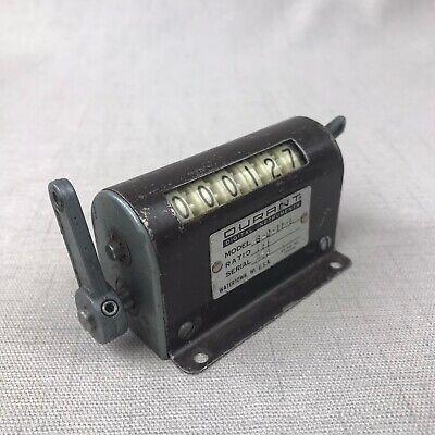 Vintage Durant 6 Digit Mechanical Counter Model 6-d-11-l Ratio 11
