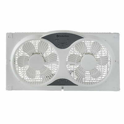 Reversible 9 Twin Window Fan with Remote Control - Trademark