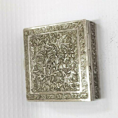 SNUFF BOX VINTAGE 84 SILVER POCKET BOX ISFAHAN ART CRAFT 1940