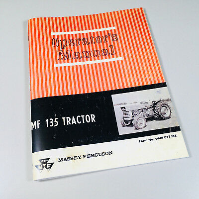 Massey Ferguson Mf 135 Tractor Owners Operators Manual Maintenance Gas Diesel