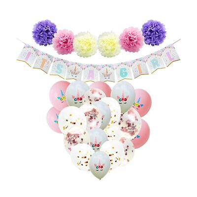 WERNNSAI Baby Shower Decorations for Girl - Unicorn Theme Party Supplies Set ... - Themes For Girl Parties