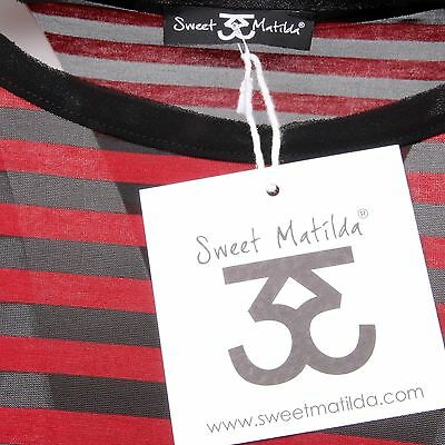 Ebay Donna Maglia Shirt Nero Matilda Sweet Woman C4502 T Rosso z1xUqU
