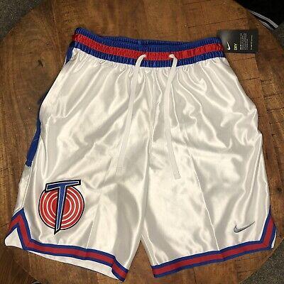 Nike Basketball Shorts Tune Squad Lebron James Space Jam White CW4277-100 Size M