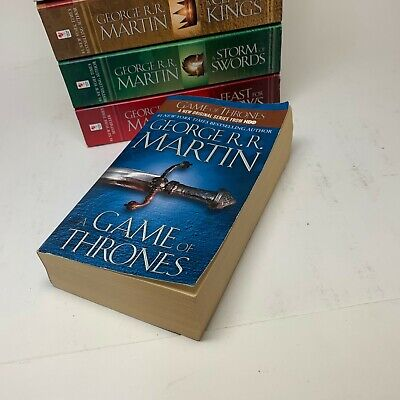 A Game of Thrones: A Song of Ice and Fire 5 Paperback Lot - George R. R. Martin