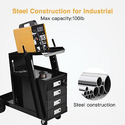 Mig Tig Welding Welder Utility Cart Trolley Plasma Cutter Cart Universal Storage