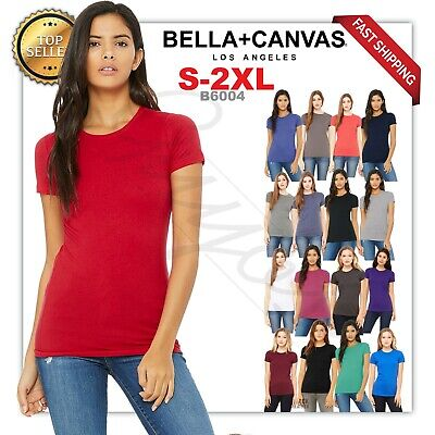 Bella Tee Shirts (New! Bella + Canvas Women's The Favorite Tee Short Sleeve Crewneck T-Shirt 6004 )
